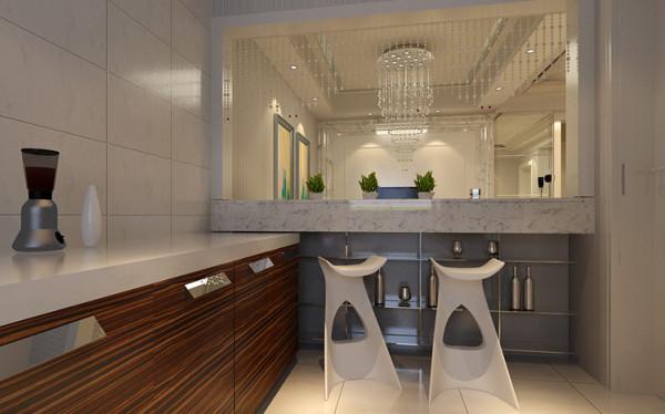 厨房和客厅之间用吧台作为隔断,既节省成本又增加了空间的通透性及实用性,可以作为参考呦。吧台