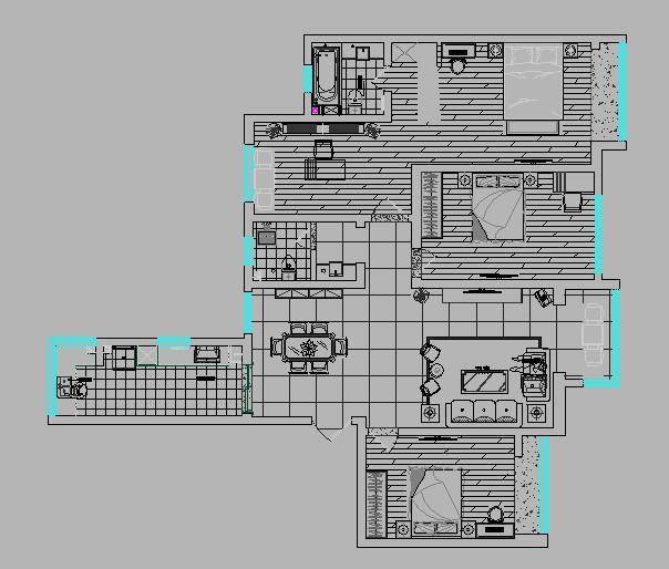 五月花城 业之峰装饰 四居室 设计图 户型图图片来自郑州业之峰装饰在永威五月花城中式装修设计的分享