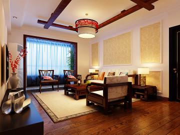 永威五月花城中式装修设计
