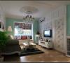 客厅地面仿古亚光地砖提升了整个空间的文化氛围,客厅电视背景墙隐形门是整个空间的亮点,使原本狭小的电视背景墙摇身一变,变得宽敞又整齐,而且又给人很强的视觉美感,真是小手笔大收获。