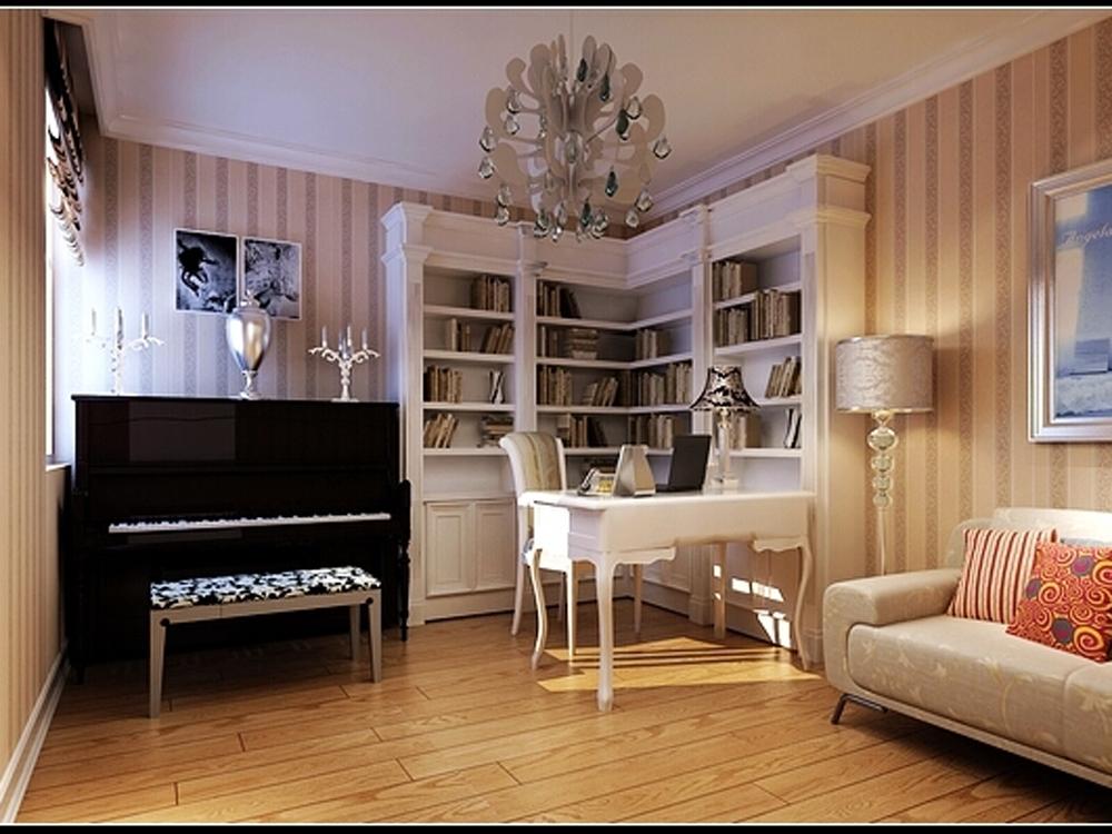 书房图片来自tjsczs88在首创装饰-瞰海品筑的分享