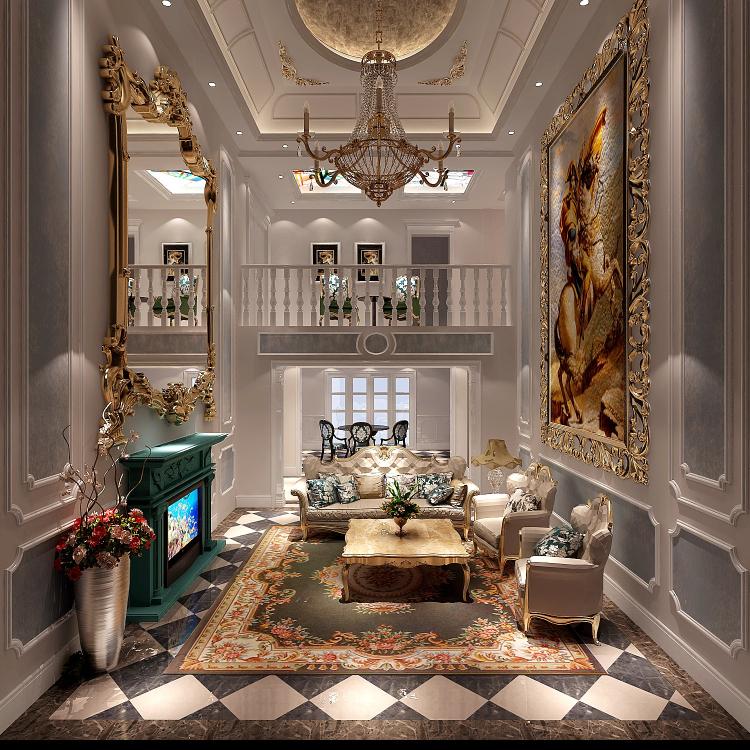 法式风格 旭辉御府 装饰装修 高度 高雅 客厅 客厅图片来自高度国际装饰王伟在旭辉御府法式风格的分享