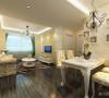 该户型的设计风格为田园风格。整个空间以暖色调为主,暖色的光源给空间营造了温馨舒适的感觉。