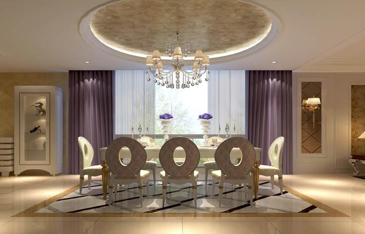 简欧 餐厅图片来自高度国际宋书培在绿地国宝21城 别墅装饰效果图的分享