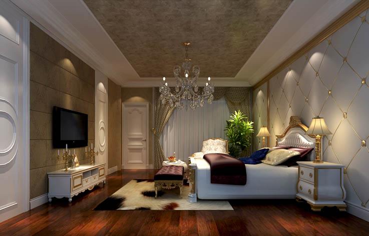 简欧 卧室图片来自高度国际宋书培在绿地国宝21城 别墅装饰效果图的分享