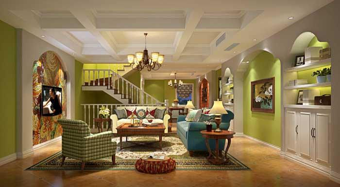 田园 简约 楼梯 客厅图片来自成都业之峰装饰公司在绿意盎然的分享