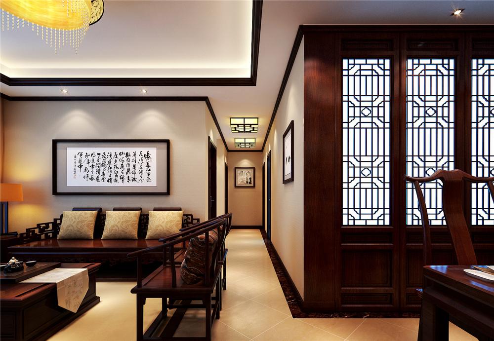 三居 收纳 白领 小资 80后 玄关图片来自实创装饰完美家装在K2清水湾120平中式古典风格案例的分享