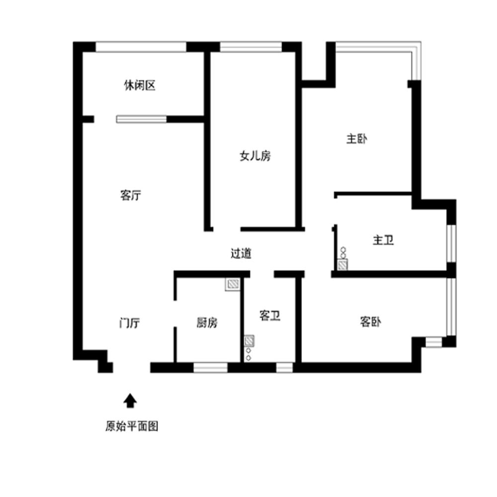 三居 收纳 白领 小资 80后 户型图图片来自实创装饰完美家装在K2清水湾120平中式古典风格案例的分享