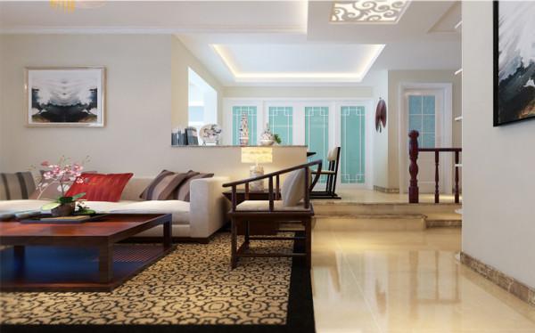 走廊和客厅融为一体来修饰这整个空间。
