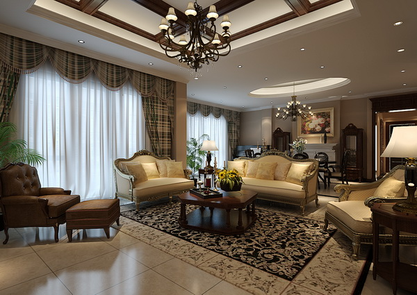 别墅装修 客厅图片来自天津别墅装修在贝肯山的分享