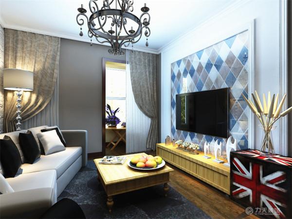 客厅作为待客区域,一般要求简洁明快,同时装修较其它空间要更明快光鲜,电视背景墙是用简单的两成石膏线圈边中间是彩色仿古砖组成的,现代又加了点田园风范