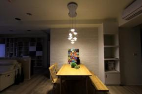 北欧 三居 舒适 餐厅图片来自业之峰装饰旗舰店在舒适自在的132平北欧梦三居室的分享