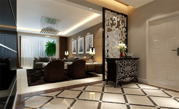 本方案是围绕现代简约为主题,三口之家居住,本方案主要材质运用高光玻璃、大理石、壁纸。三者相互结合,相交融。