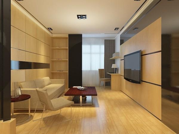 该户户型是北宁湾四期高层标准层两室户型图 2室2厅1卫1厨96.00,业主是自由职业者,喜欢淳朴简约的造型设计,对木色装饰情有独钟,所以我为业主定位为设计成港式风格。