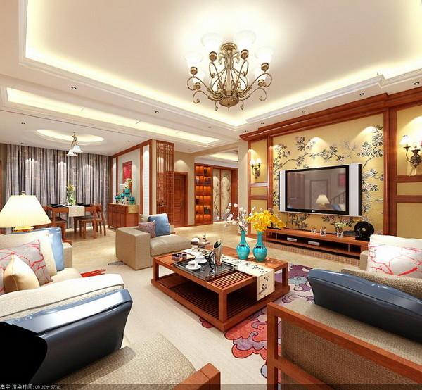我们在设计初期就摆脱了传统中式的深色色调,采用大量的浅色色调以及留白的处理方式,暖体色调,使得整个家居空间温馨而又舒适,通过设计完善生活。