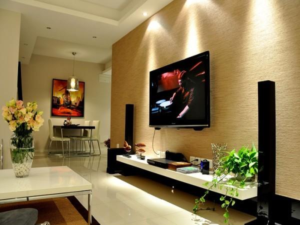 此案例强调了空间的整体性、风格的统一性。设计师根据不同对应的房间做出了不同的装修方案。提倡自然、简洁和理性的设计理念,整体客厅比例均匀、形式新颖、材料搭配合理、干净利落。