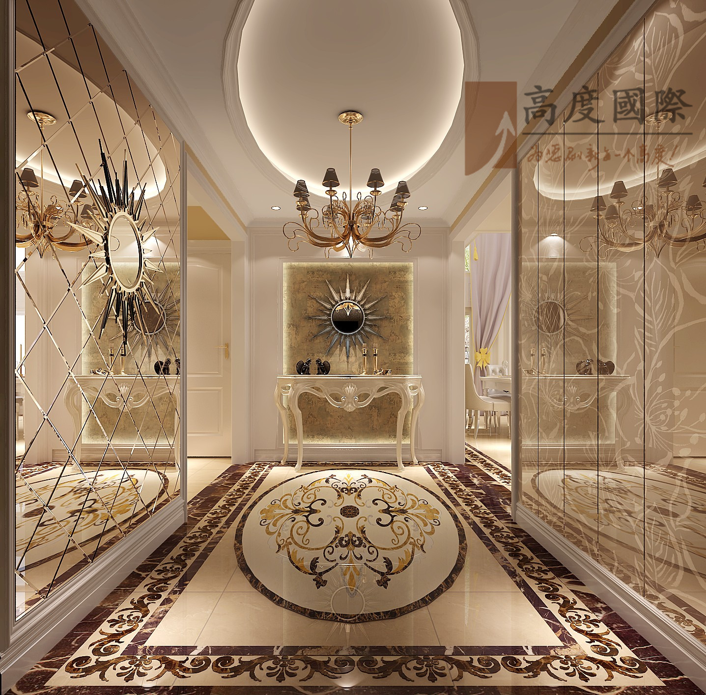 奢华风格 玄关图片来自成都高度国际别墅装饰在奢华风格的分享