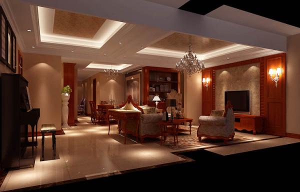 客厅仿古地砖的应用使居所有种岁月的沉积感
