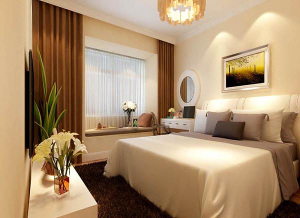 此为现代简约风格的卧室,当耳朵被阳光唤醒,当目光为绿色驻足,轻轻地伸一个懒腰,闲庭信步于自我的世外桃源是如此的惬意和美好。