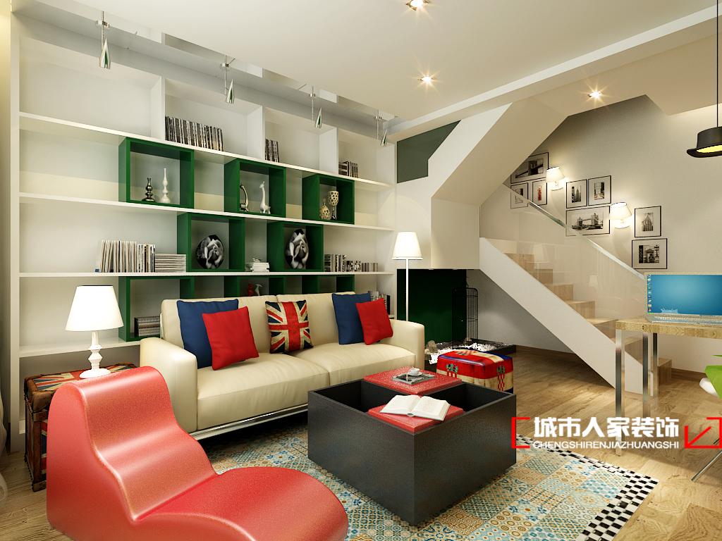 混搭 别墅 小资 白领 简约 楼梯图片来自石家庄装修装饰设计公司在奥克兰 280平 现代简约的分享