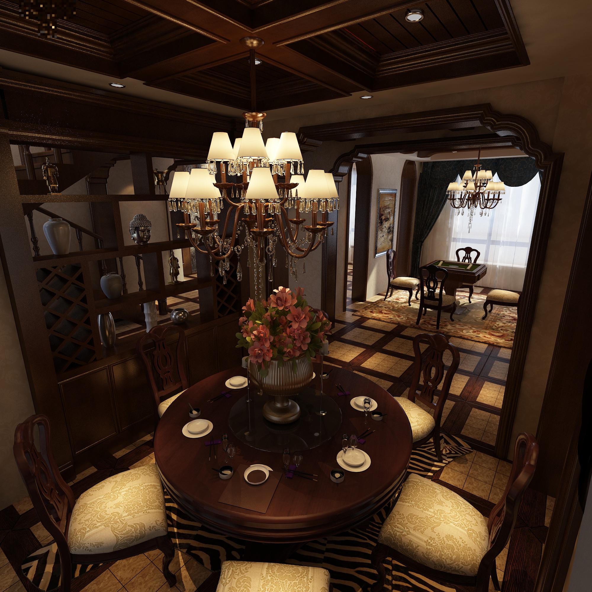 欧式 跃层 汇置公园里 餐厅图片来自百家设计小刘在汇置公园里215平欧式古典风格的分享