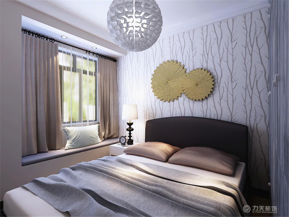 简约 二居 白领 收纳 80后 小资 卧室图片来自阳光力天装饰在橡树湾-75㎡-现代简约的分享