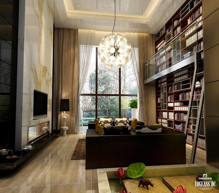 简约 别墅 客厅图片来自天津尚层装修韩政在海逸王墅现代风格的分享