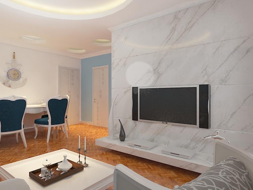 欧式 二居 白领 收纳 80后 小资 客厅图片来自阳光力天装饰在亚泰津澜-88.36㎡-简欧风格的分享