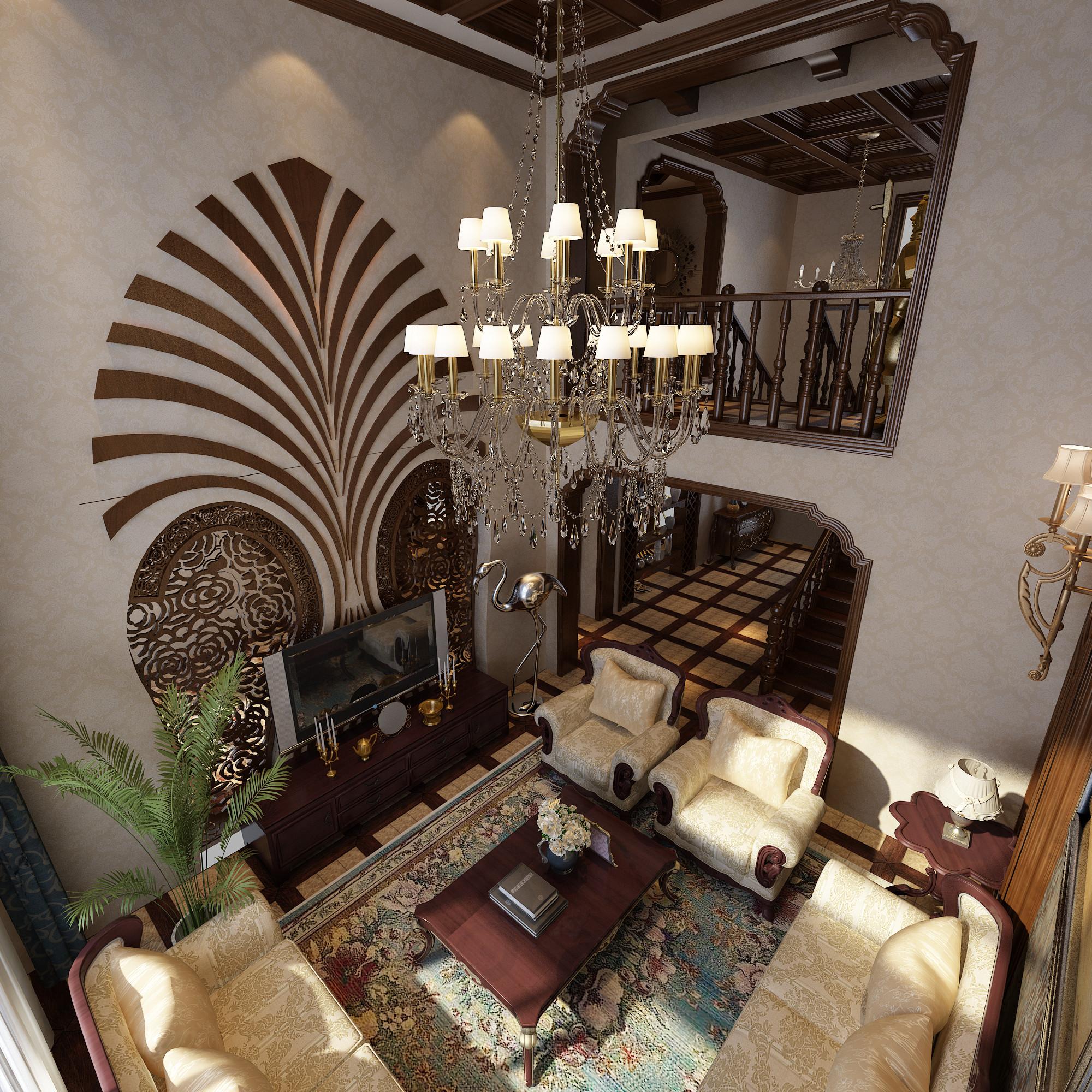 欧式 跃层 汇置公园里 客厅图片来自百家设计小刘在汇置公园里215平欧式古典风格的分享