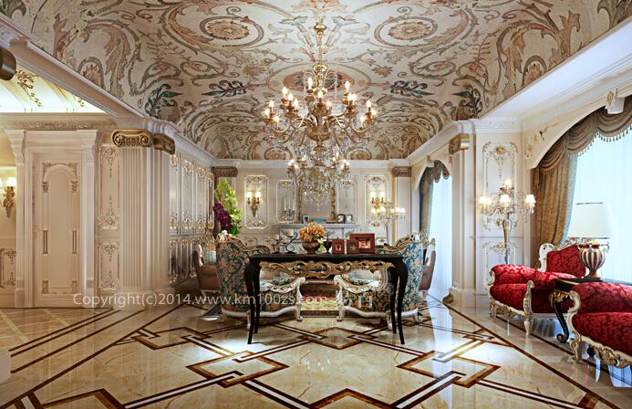 客厅图片来自昆明易百装饰-km100zs在【巴洛克风格】云南艺术家园区的分享