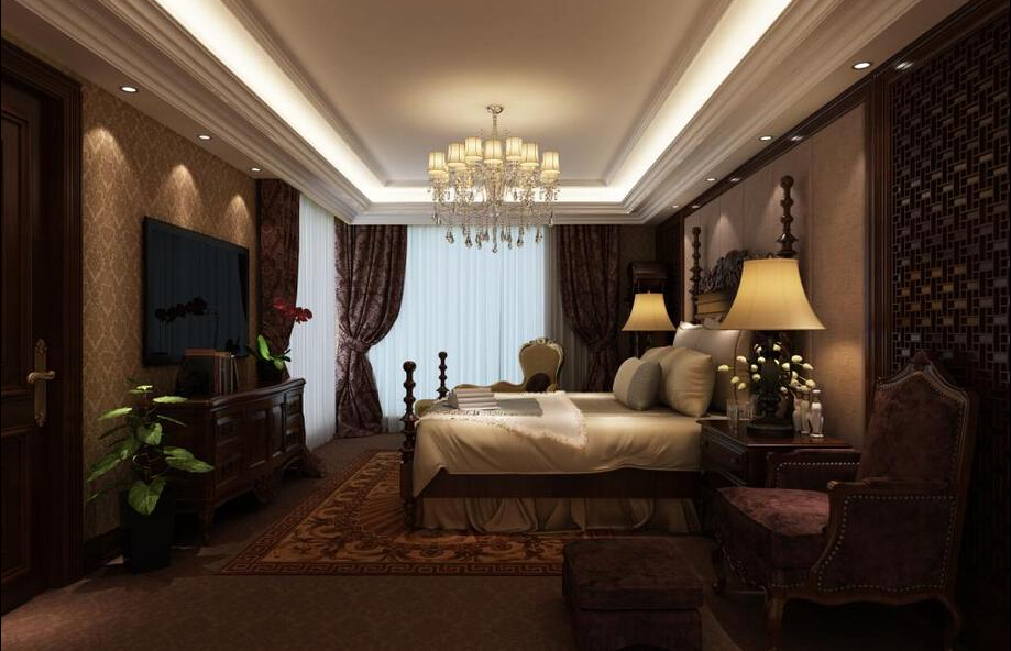别墅 西式古典 联合易墅 橡树园 卧室图片来自天津联合易墅装饰在西式古典打造豪华装修的分享