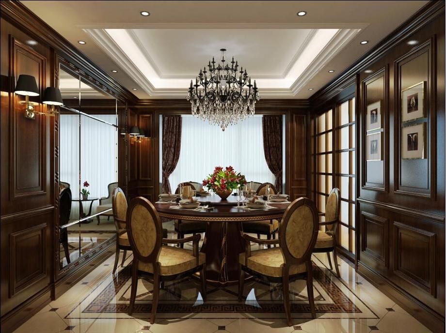 别墅 西式古典 联合易墅 橡树园 餐厅图片来自天津联合易墅装饰在西式古典打造豪华装修的分享