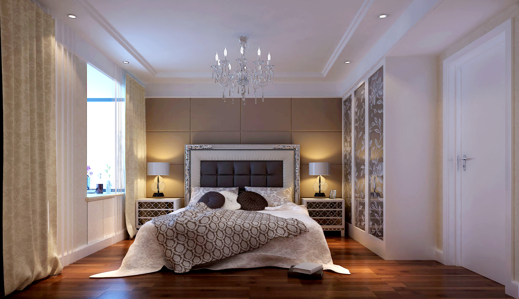 简约 欧式 三居 白领 80后 红杉世家 高度国际 秦大涛 婚房 卧室图片来自北京高度国际装饰设计在红杉世家简欧温润公寓的分享