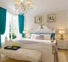 木质纹理的地板之上,纯白五斗橱,纯净美好。简欧经典的床品,简洁的衣柜,亮黄色的花儿,醒目耀眼的花蕊,使整个卧室生机勃勃。卧室床的背景墙处,两幅挂画成为美感的来源。