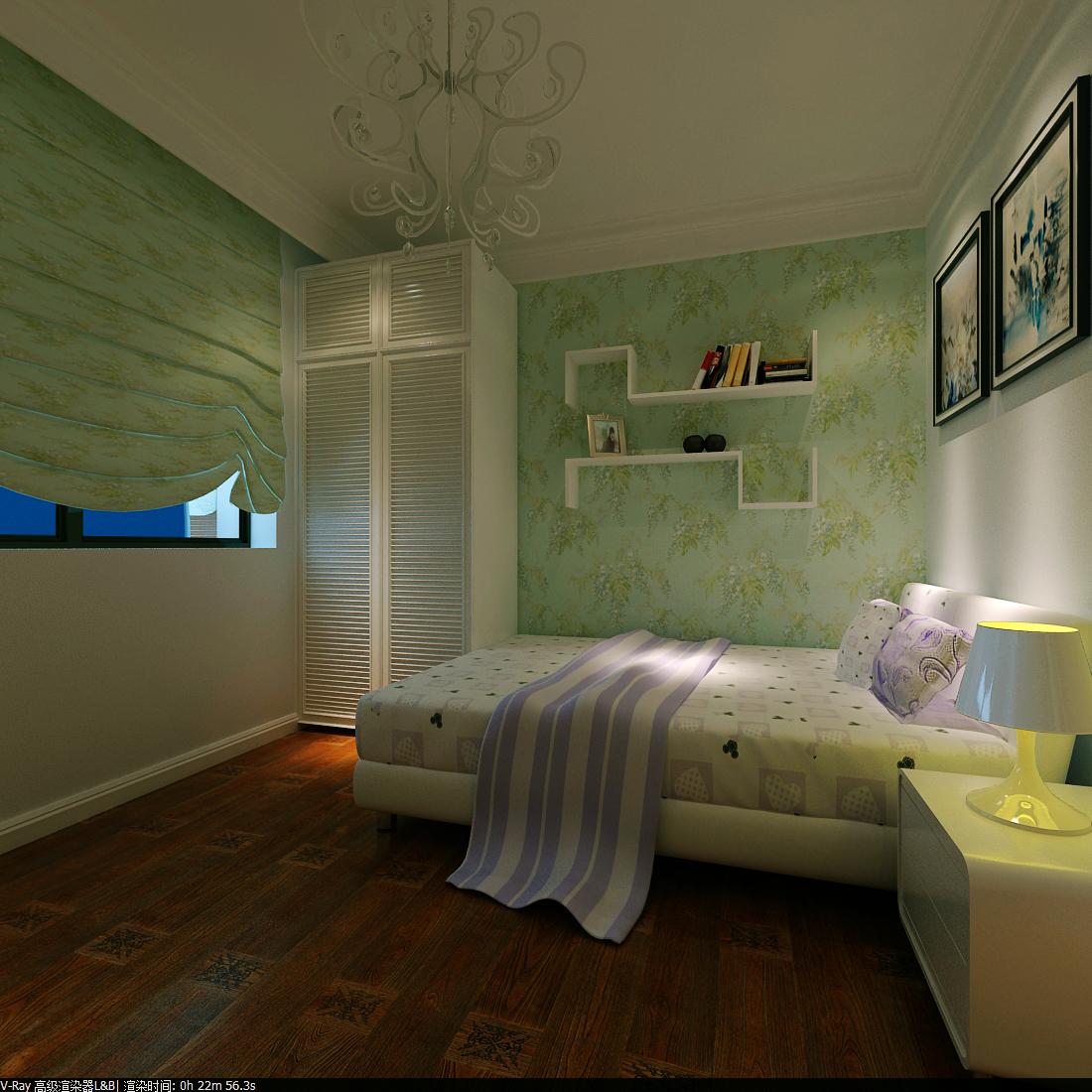 欧式 三居 白领 收纳 卧室图片来自富有世纪装饰河南公司在书的倾述的分享