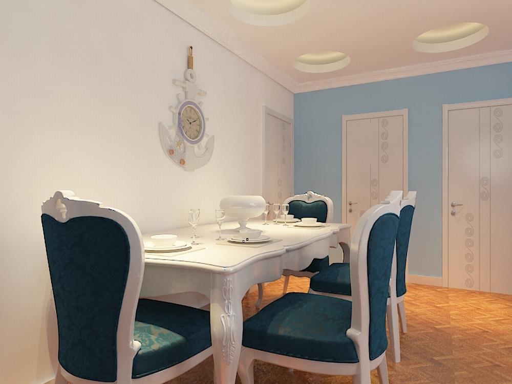 欧式 二居 白领 收纳 80后 小资 餐厅图片来自阳光力天装饰在亚泰津澜-88.36㎡-简欧风格的分享