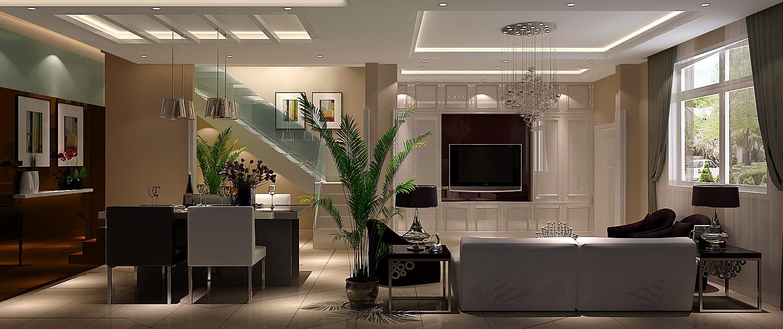 简约 三居 别墅 白领 80后 美式 高度国际 秦大涛 婚房 客厅图片来自北京高度国际装饰设计在富力新城美式简约别墅的分享