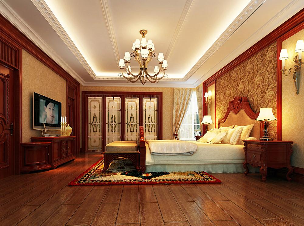 别墅装修 别墅设计 尚层装饰 北京尚层 棕榈泉别墅 卧室图片来自尚层装饰袁园在棕榈泉美式风格别墅设计图的分享