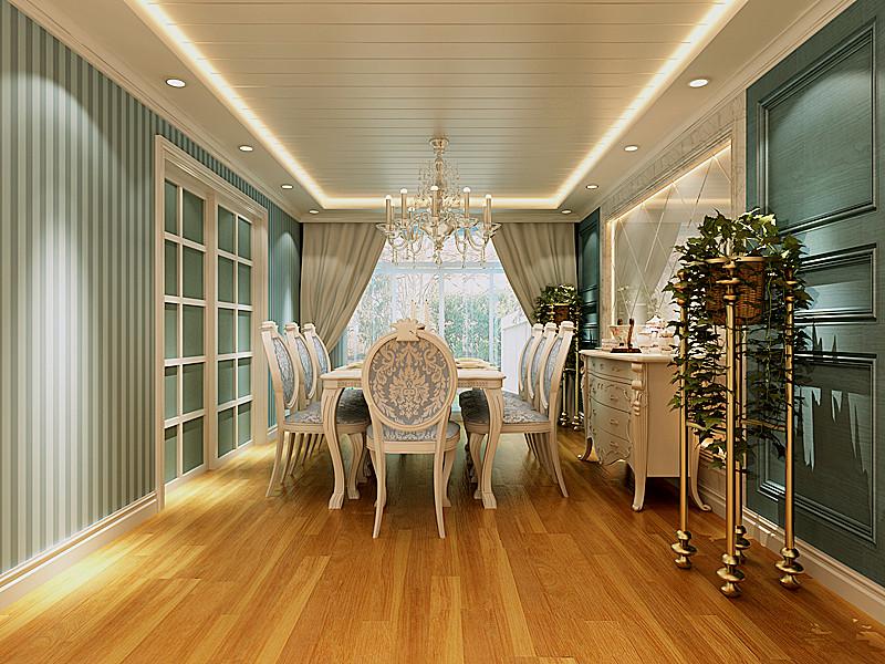简约 欧式 田园 别墅 三居 二居 混搭 白领 餐厅图片来自元洲装饰木子在简欧风格的分享
