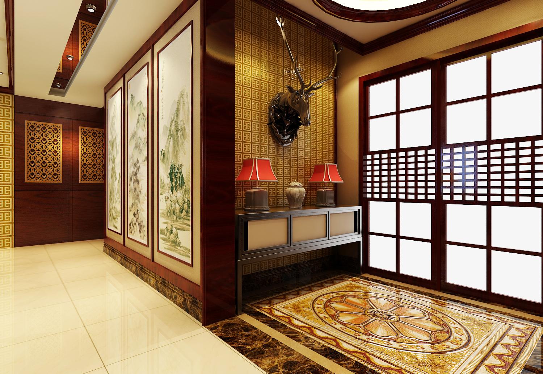 三居室 新中式 效果图 其他图片来自石家庄业之峰装饰虎子在天山熙湖138平米新中式风格案例的分享
