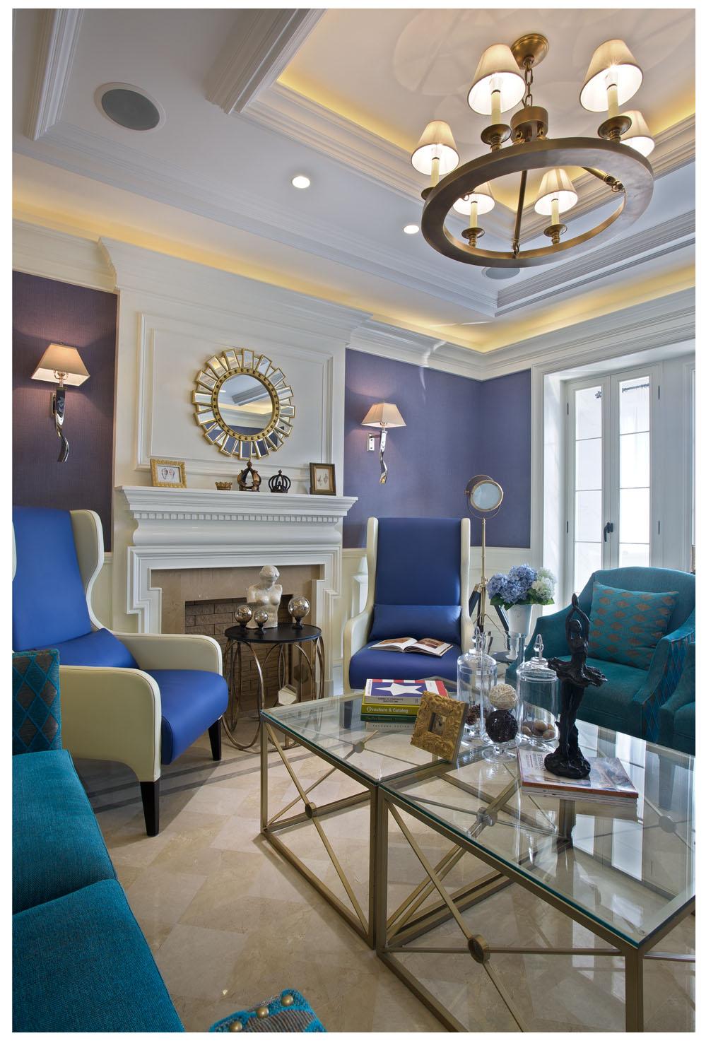 美式 三居 大宅图片来自石家庄装修装饰设计公司在海蓝色的诱惑的分享