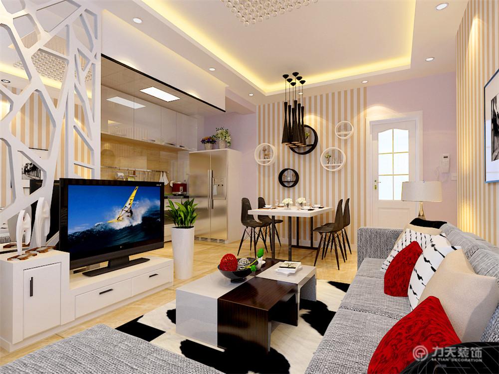 简约 别墅 白领 收纳 旧房改造 80后 小资 客厅图片来自阳光力天装饰梦想家更爱家在金隅悦城1室2厅52.00㎡的分享