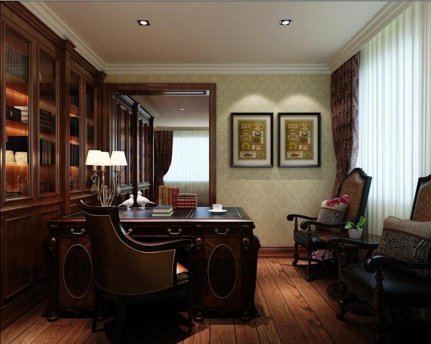 别墅 西式古典 联合易墅 橡树园 书房图片来自天津联合易墅装饰在西式古典打造豪华装修的分享