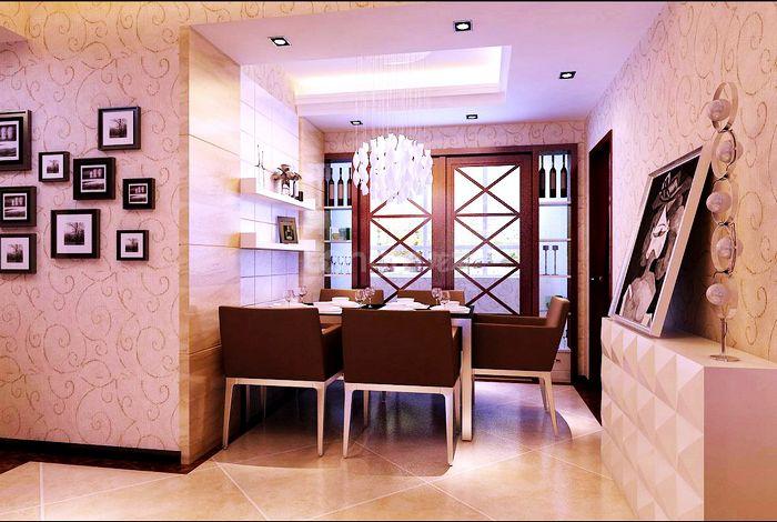 四居 现代风格 龙发装饰 湖城大境 装修设计 餐厅图片来自龙发装饰集团西安分公司在金地湖城大境最大的体现空间的分享