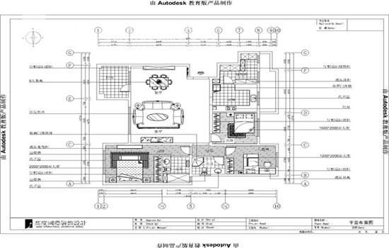 美式 装修 设计 户型图图片来自高度老杨在鲁能七号院 三室二厅二卫 美式的分享