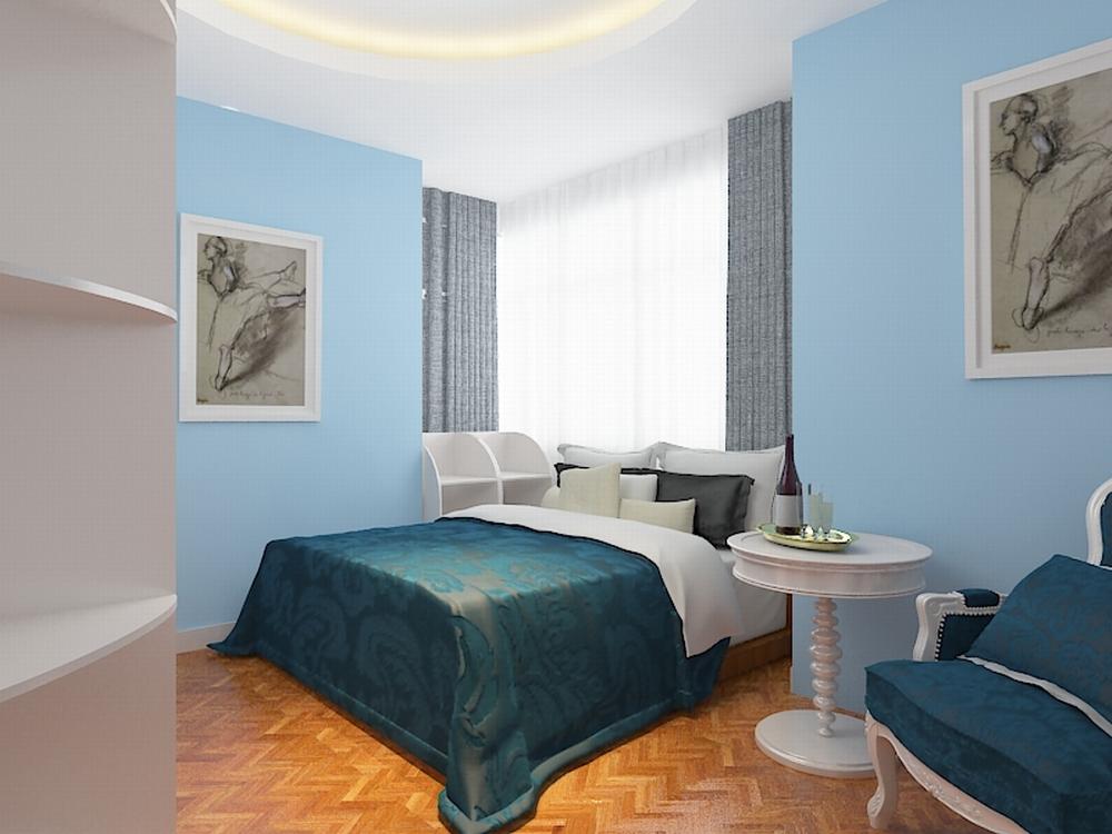 欧式 二居 白领 收纳 80后 小资 卧室图片来自阳光力天装饰在亚泰津澜-88.36㎡-简欧风格的分享