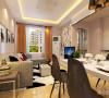 沙发墙运用壁纸和挂画的各种装饰的表现形式,更加彰显业主的品味与内涵。