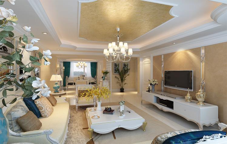 欧式 三居 白领 简约 客厅图片来自天津实创装饰集团l在打败时间的欧式浪漫的分享
