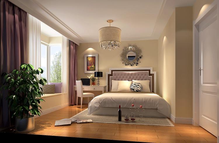 简约 欧式 田园 混搭 二居 三居 旧房改造 80后 现代 卧室图片来自高度国际装饰王伟在【望京宝星园】100平米-现代风格的分享