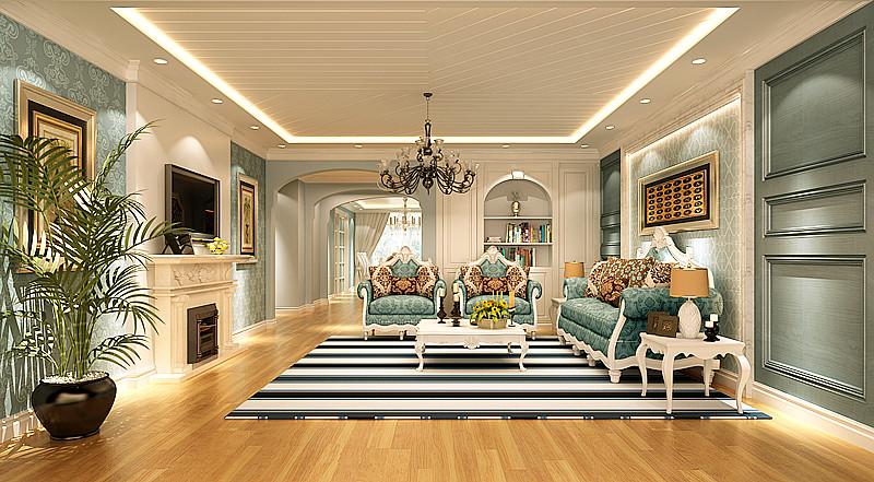 简约 欧式 田园 别墅 三居 二居 混搭 白领 客厅图片来自元洲装饰木子在简欧风格的分享